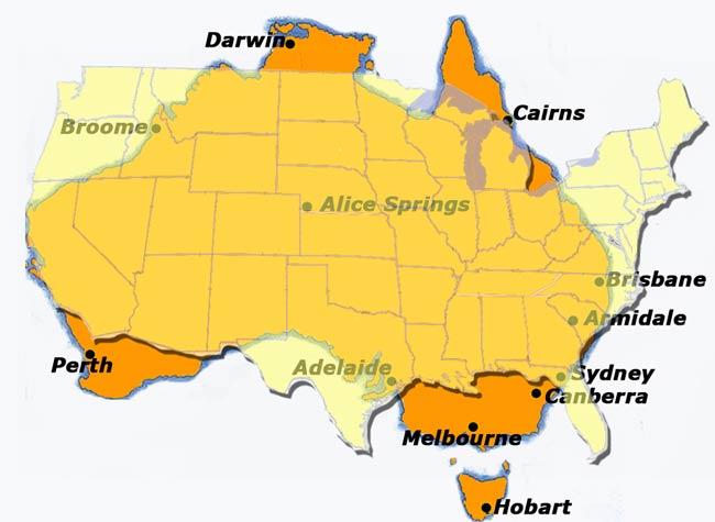 Australia Vs USA HOLE STORIES - Australia us map